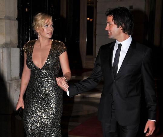 Oscarová herečka Kate Winslet si vzala Neda Rocknrolla.