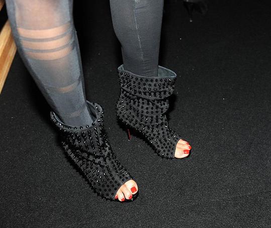 Tereza si tyto luxusní botičky kupovala už loni, ale premiéru měly až nyní.