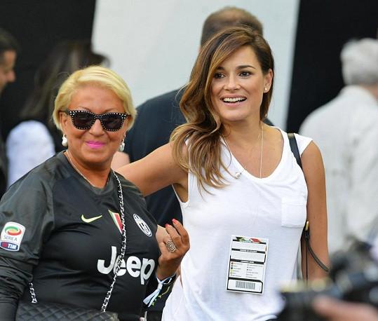 Alena Šeredová nechyběla na posledním zápase Juventusu Turín.