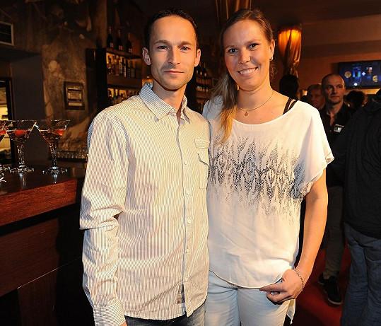 Lucie Hradecká s přítelem Dušanem