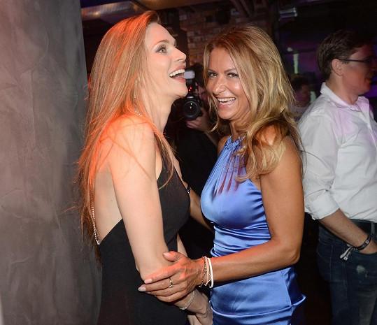Yvetta Blanarovičová se na akci bavila s kamarádkou Andreou Verešovou.