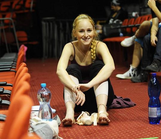 Tereza Vágnerová si s sebou nosí teplé ponožky.