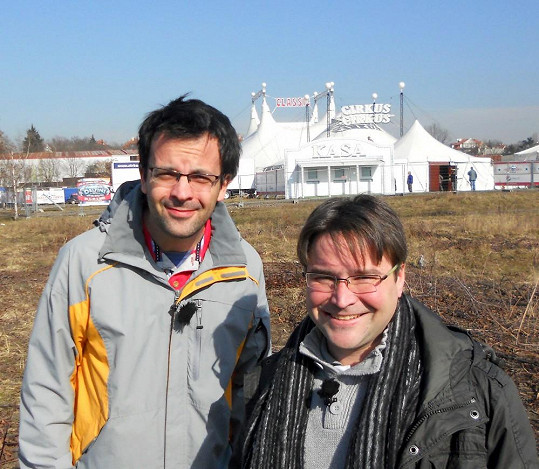 Pavel Mang s Tomášem Voženílkem, s nímž natáčel pořad 13. komnata.