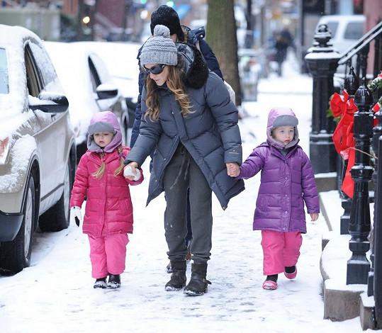 Sarah Jessica Parker se svými dvojčátky