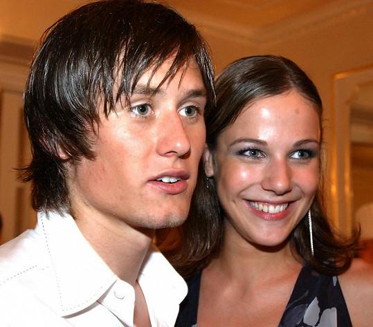 Tomáš rosický s Radkou Kocurovou na archivním snímku