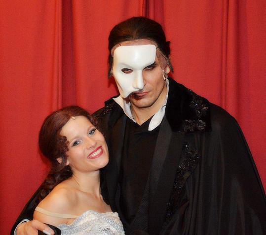 S Michaelou Gemrotovou jako Fantom opery