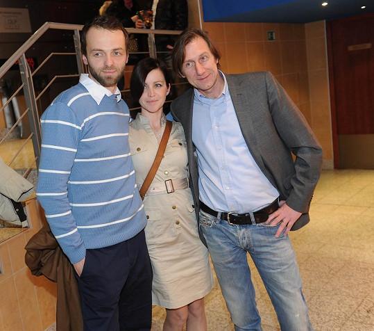 Lukáš Langmajer s manželkou a Jan Antonín Duchoslav