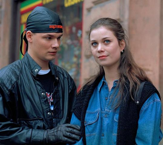 Šárka Ullrichová s Martinem Preissem v jedné z prvních televizních rolí. Bylo jí jednadvacet let.