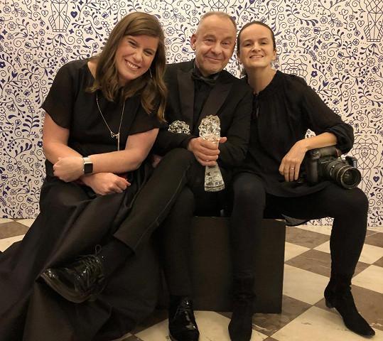 Ředitelka ČFTA Tereza Malá Rychnovská, Václav Marhoul a fotografka Lenka Hatašová