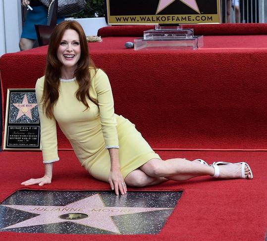 Julianne Moore má svou hvězdu na chodníku slávy.