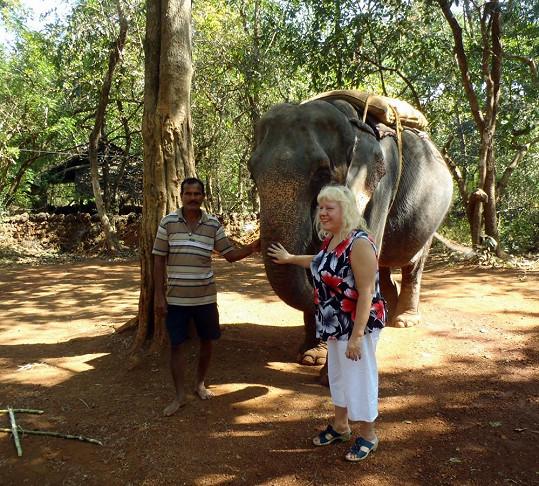 Pojkarová si zajezdila i na slonovi.