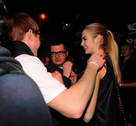 Tomáš Topolánek s partnerkou Simonou, která je loňskou Miss Golf.