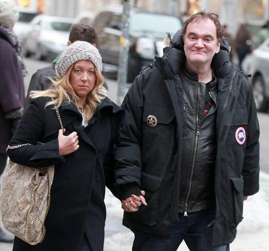 Quentin Tarantino s přítelkyní v New Yorku