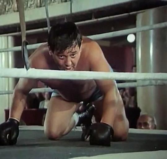 V seriálu v jedné scéně skončil i na kolenou.