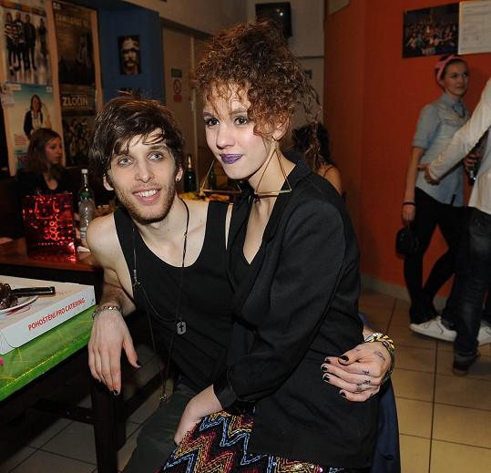 Míša s přítelem Romanem Tomešem
