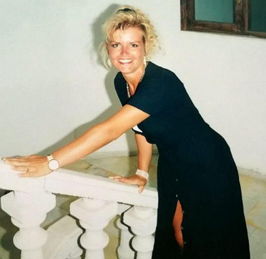 Heather Cowley předtím, než v sobě objevila vášeň pro posilování.
