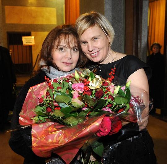 Herečka s režisérkou Lenkou Kny