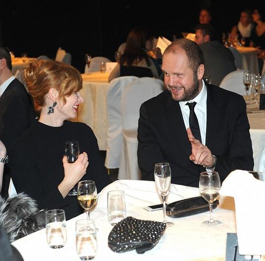 Aňa s Davidem Ondříčkem, za jehož film Líbánky je nominována na Českého lva.