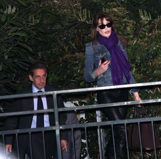 Carlu přišel podpořit i manžel Sarkozy.