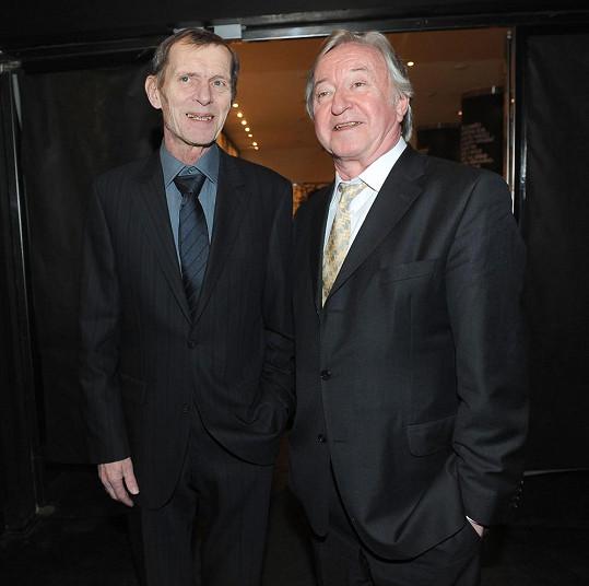 S kolegou Jiřím Schmitzerem, který dostal cenu za nejlepší mužský herecký výkon v hlavní roli.