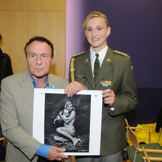 Oštěpařka s tvůrcem snímku Janem Saudkem.