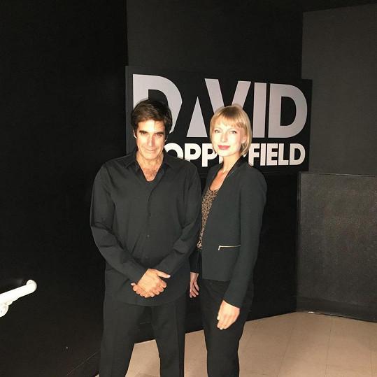 Adéla se setkala s mágem Davidem Copperfieldem.