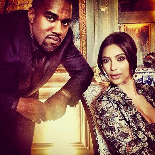 Kim s Kanyem v předsvatební den v Paříži