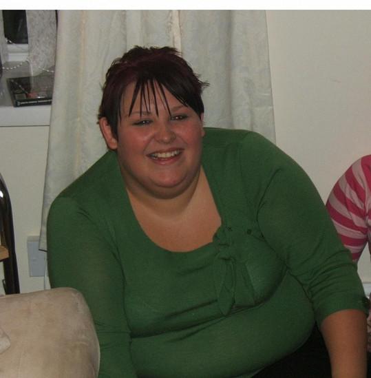 Natalie v době, kdy vážila 178 kilogramů.