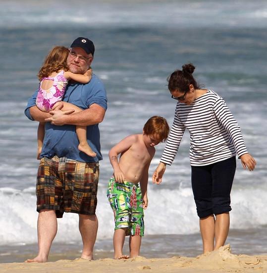 Známý herec se svou rodinou.