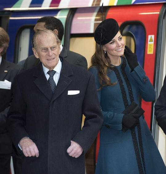 Catherine s chotěm královny, princem Philipem.