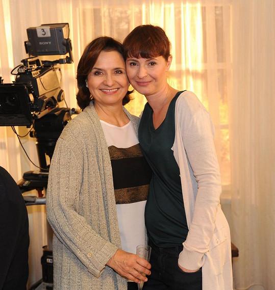Lenka se seriálovou kolegyní Veronikou Freimanovou