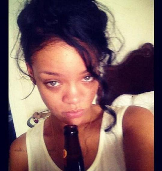 Rihanna po pařbě