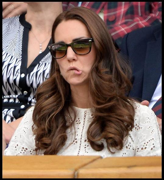 Kate je očividně velkou fanynkou tenisu.