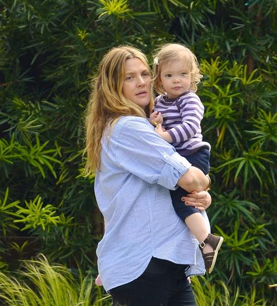 Drew se svou prvorozenou dcerou Olive