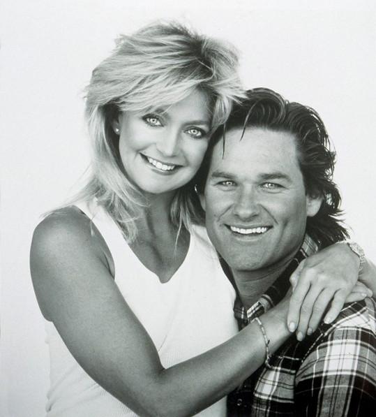 Kurt Russell na archivním snímku se svou letitou partnerkou Goldie Hawn