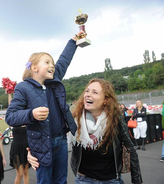 Také Markéta Hrubešová se radovala z jednoho z vítězství své dcery Christel.