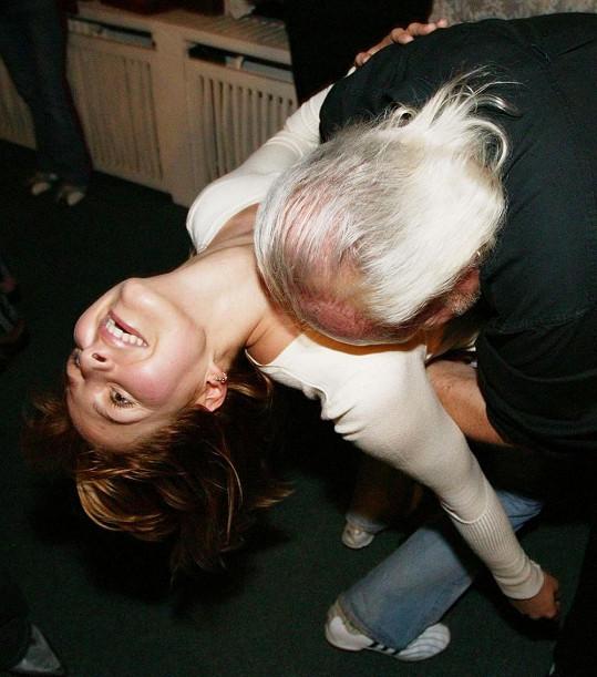 A takto Gottová pařila na jednom z večírků s Leškem Semelkou.