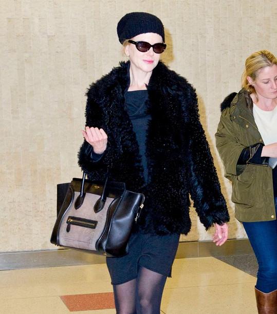 Nicole Kidman na letišti v New Yorku