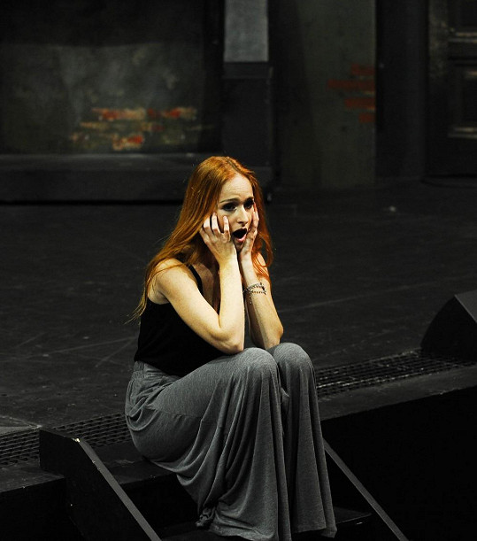 Tereza toužila po roli Christine v muzikálu Fantom opery.