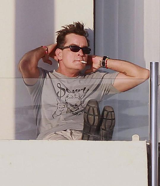 Charlie Sheen na dovolené v Mexiku