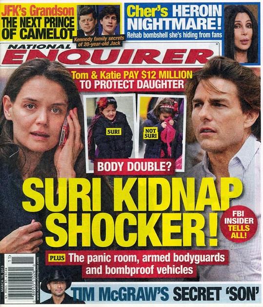 Obálka nejnovějšího čísla týdeníku National Enquirer.
