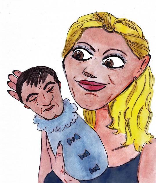 Pohled do budoucnosti: Ornella Štiková s malým Quentinem.
