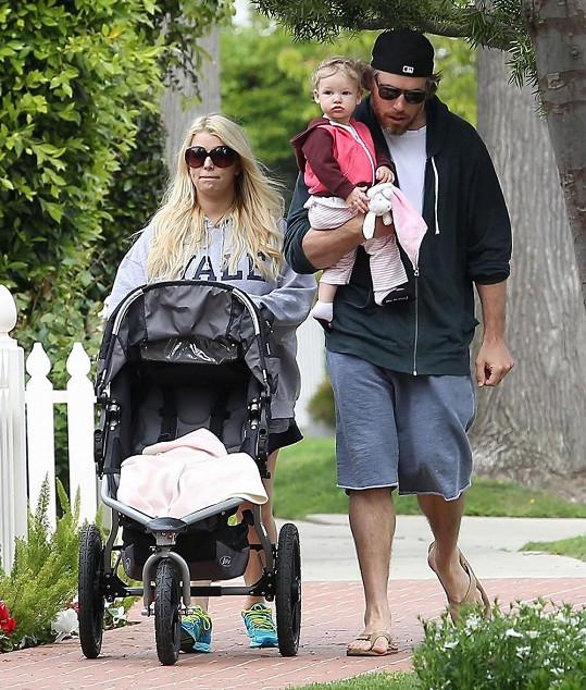 Jessica Simpson s rodinou.