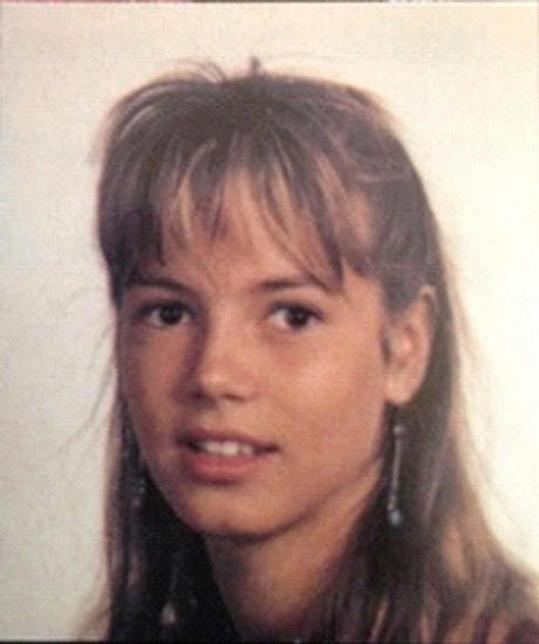 Modelka na snímku, na kterém je jí dvanáct let.