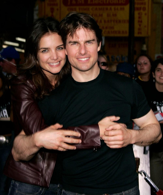 Katie Holmes s exmanželem Tomem Cruisem.