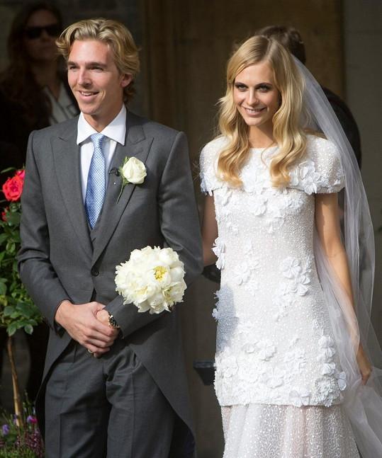 Poppy Delevingne s manželem Jamesem Cookem