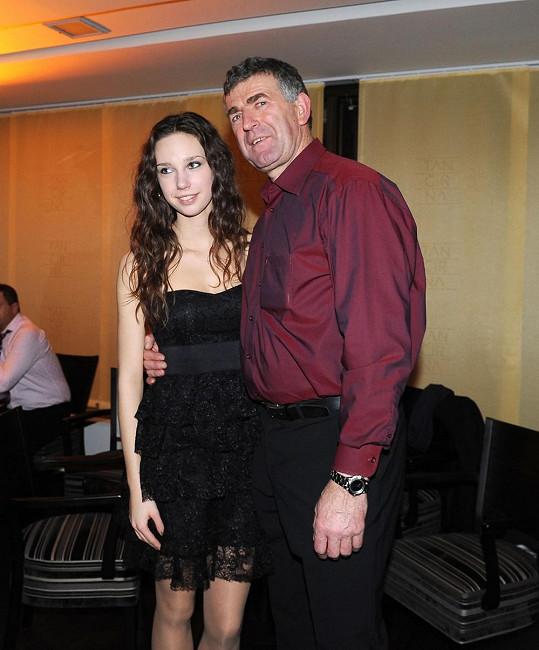 Dcera svou přítomností podporovala tatínka i během působení v taneční soutěži StarDance.