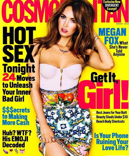 A takhle září na obálce nového Cosmopolitanu.