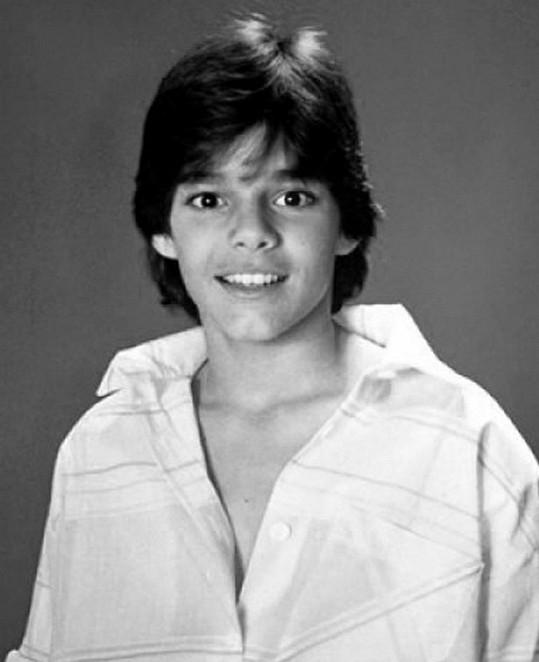 Ricky Martin jako školák.