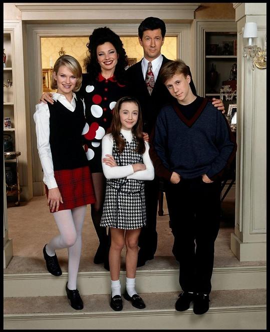 Seriálová chůva Fran s Maxwellem Sheffieldem a jeho dětmi